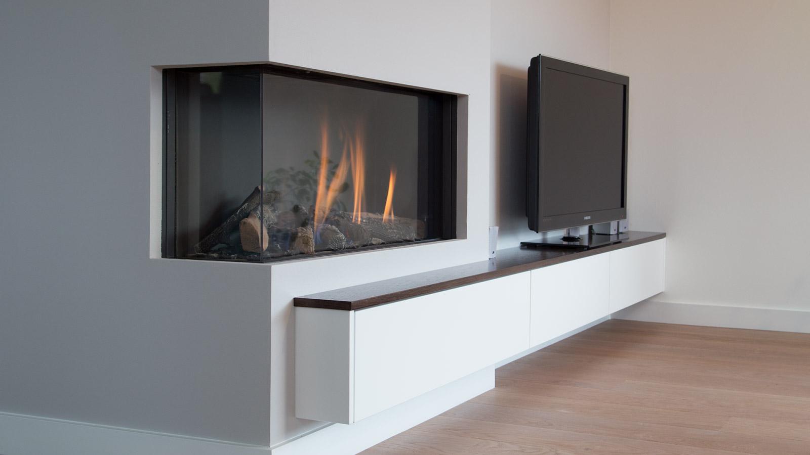 Tv Kast Muur.Tv Meubel In Muur Verdiept Cvh Design Maatinterieur Voor Wonen