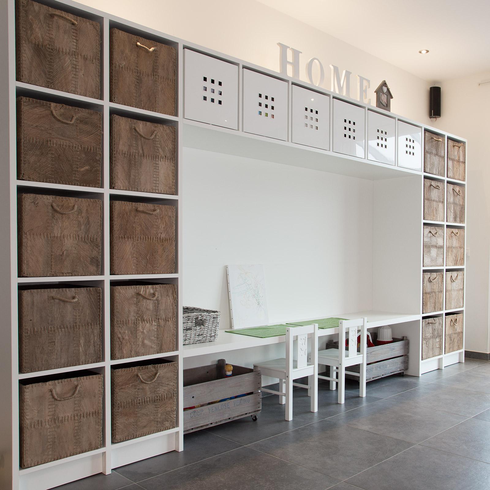 Bergkast + werkblad speelkamer - CVH Design - Maatinterieur voor wonen ...