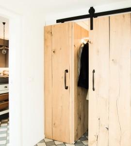 Eiken deuren met staldeur schuifbeslag